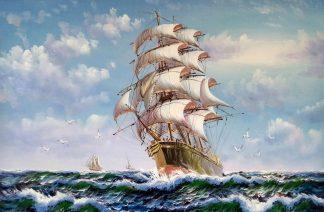 «На всех парусах» картина 60х90 арт.9к008