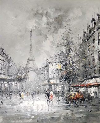 «Вид на Эйфелеву башню» картина 50х60 арт.5м154