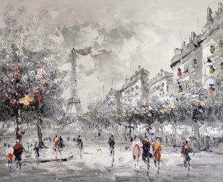 «Вид на Эйфелеву башню» картина 50х60 арт.5м155