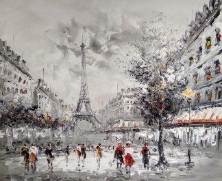 «Прогулка по Парижу» картина 50х60 арт.5м158