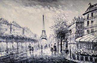 «Прогулка по Парижу» картина 60х90 арт.9м001