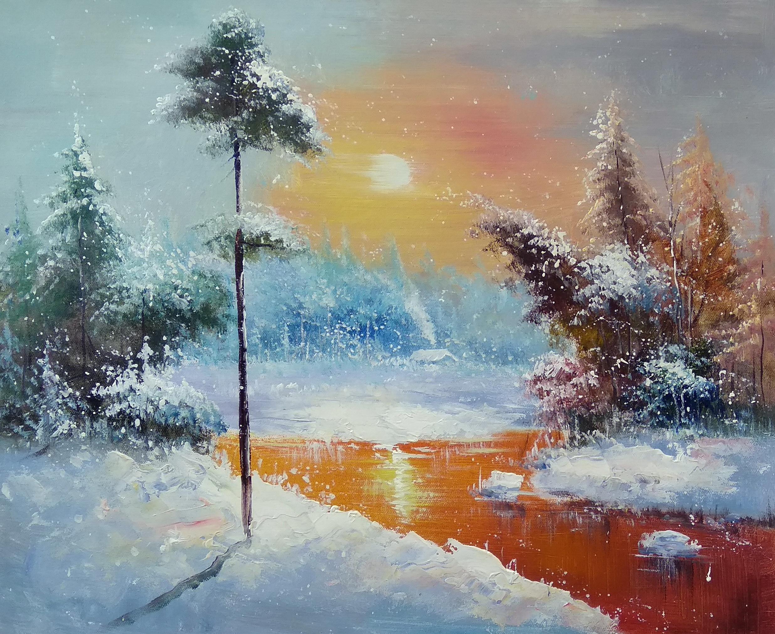 «Зимний день» Картина 50х60 арт. П157
