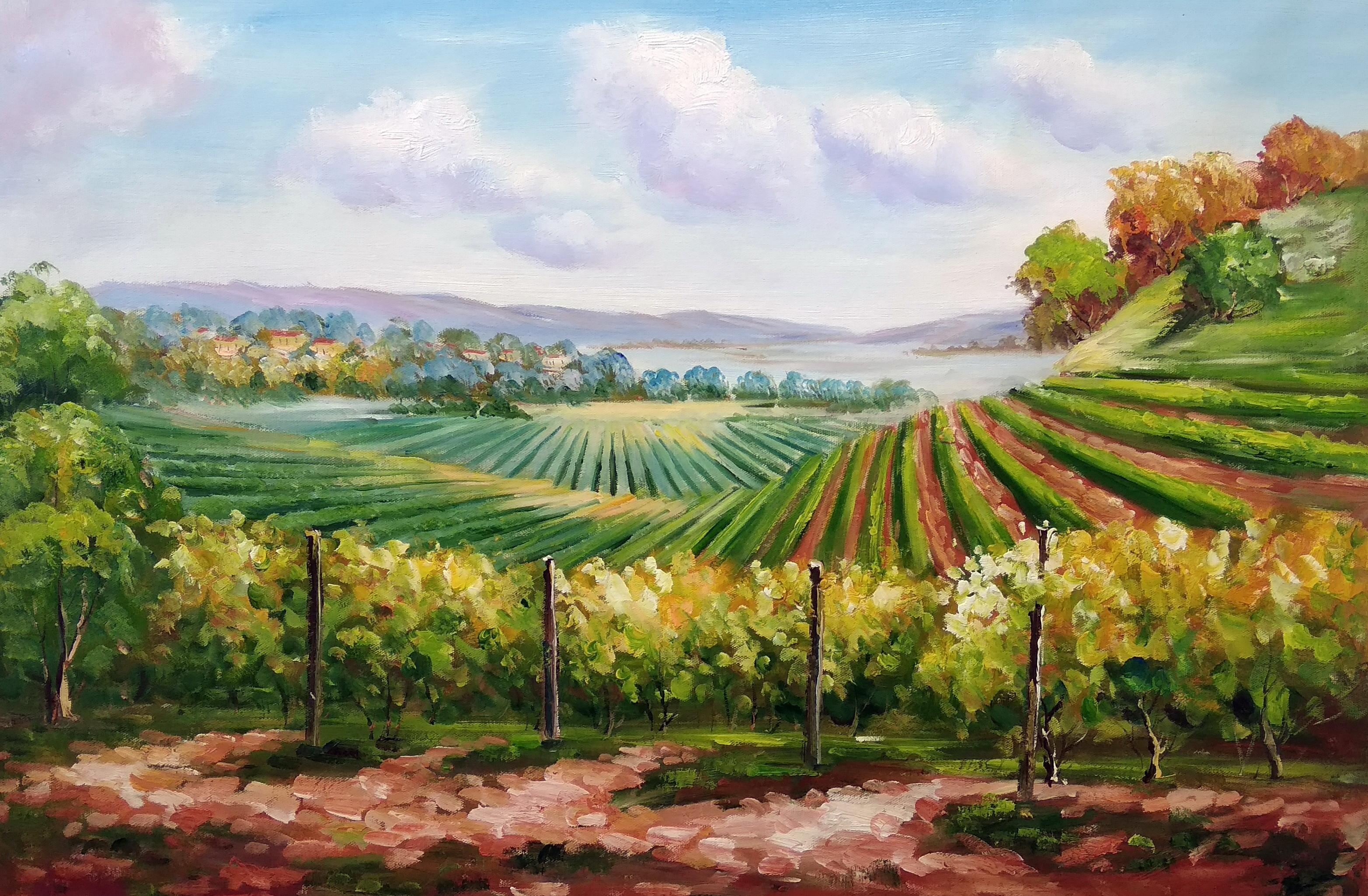 «Виноградники» Картина 60х90 арт. 9П004