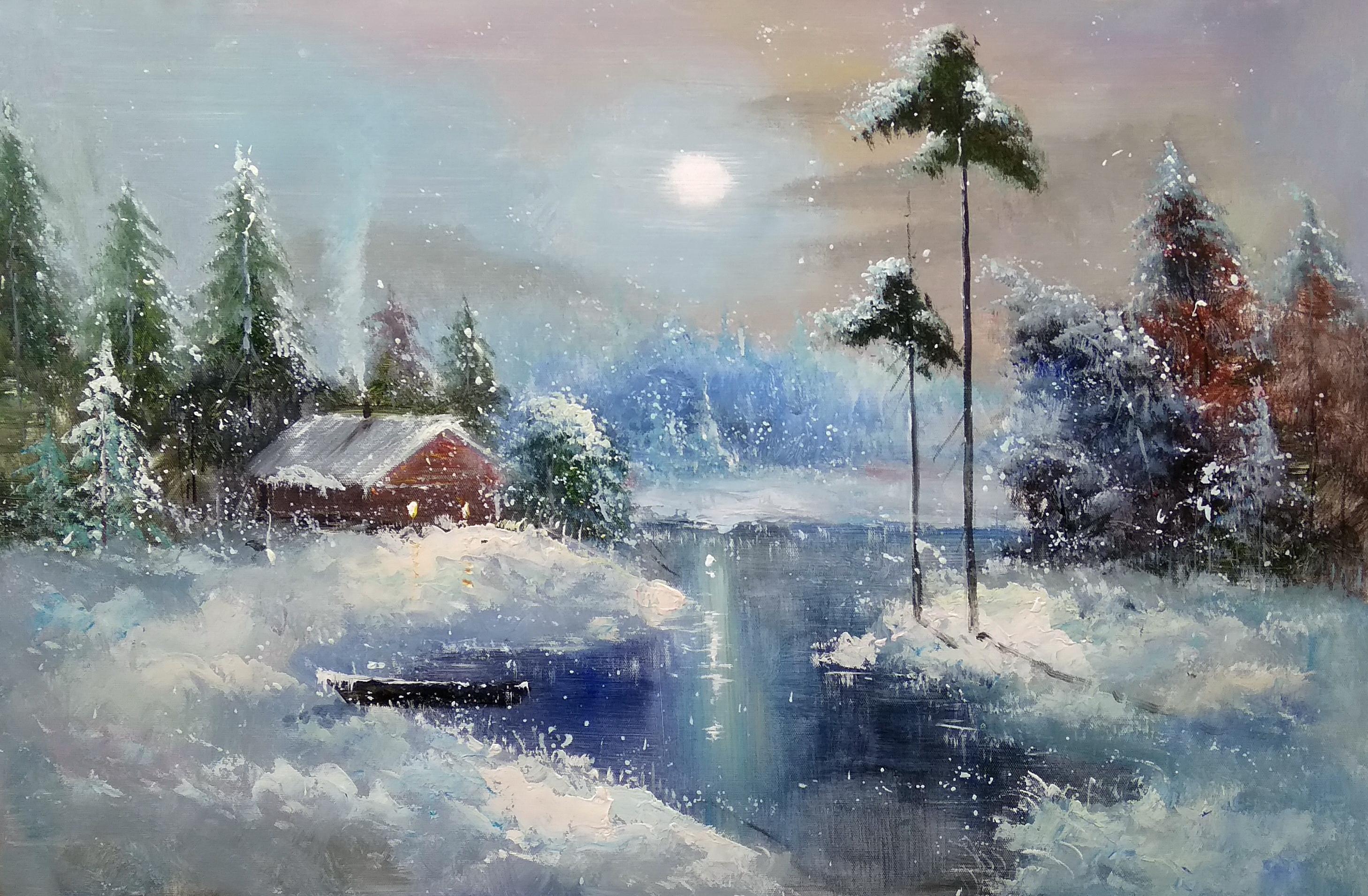 «Теплый домик» Картина 60х90 арт. 9П005