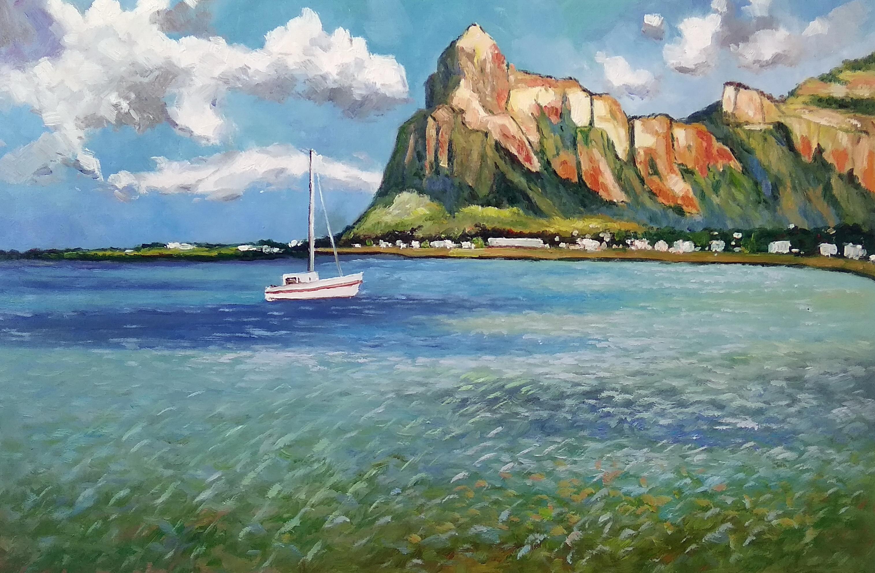 «Теплые берега» Картина 60х90 арт. П008