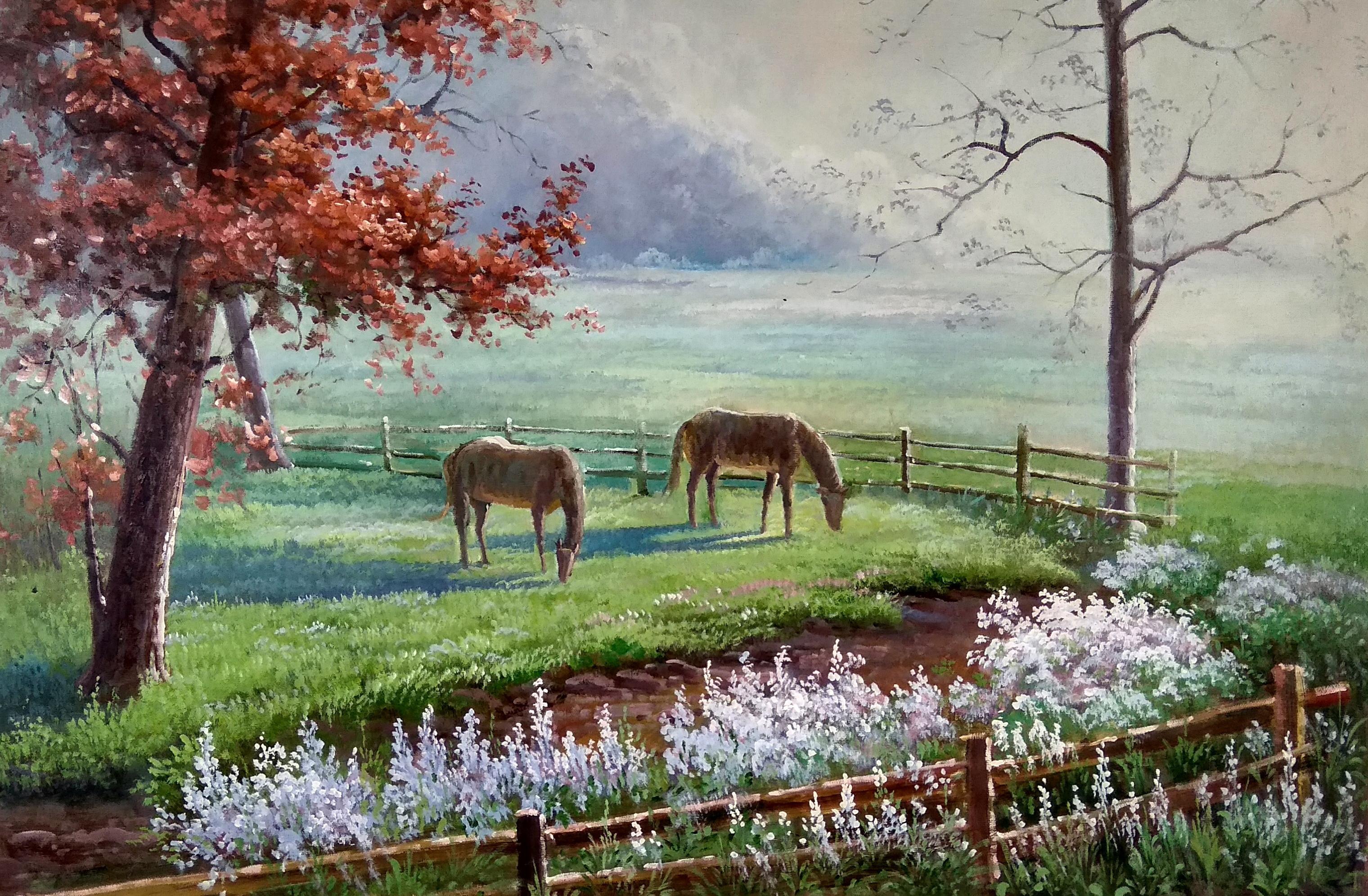 «Лошади» картина 60х90 арт.9п010