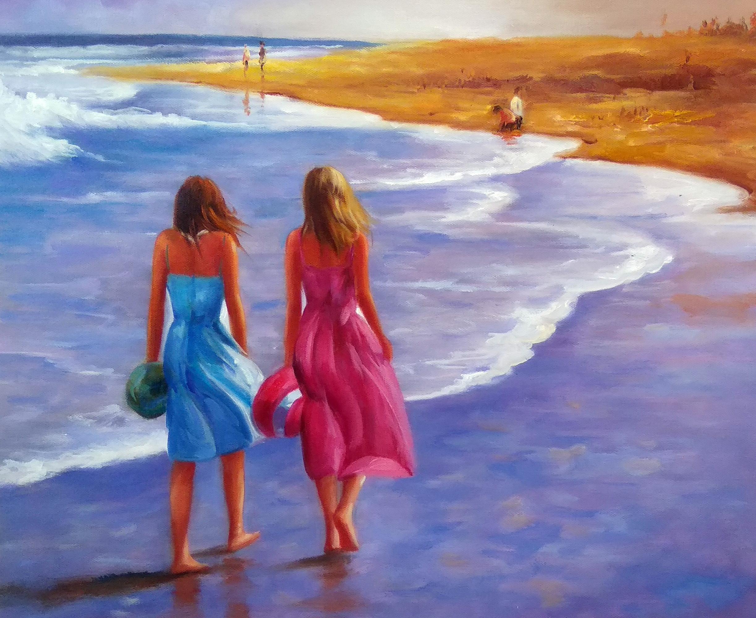 «Прогулка» Картина 50х60 арт. Р153