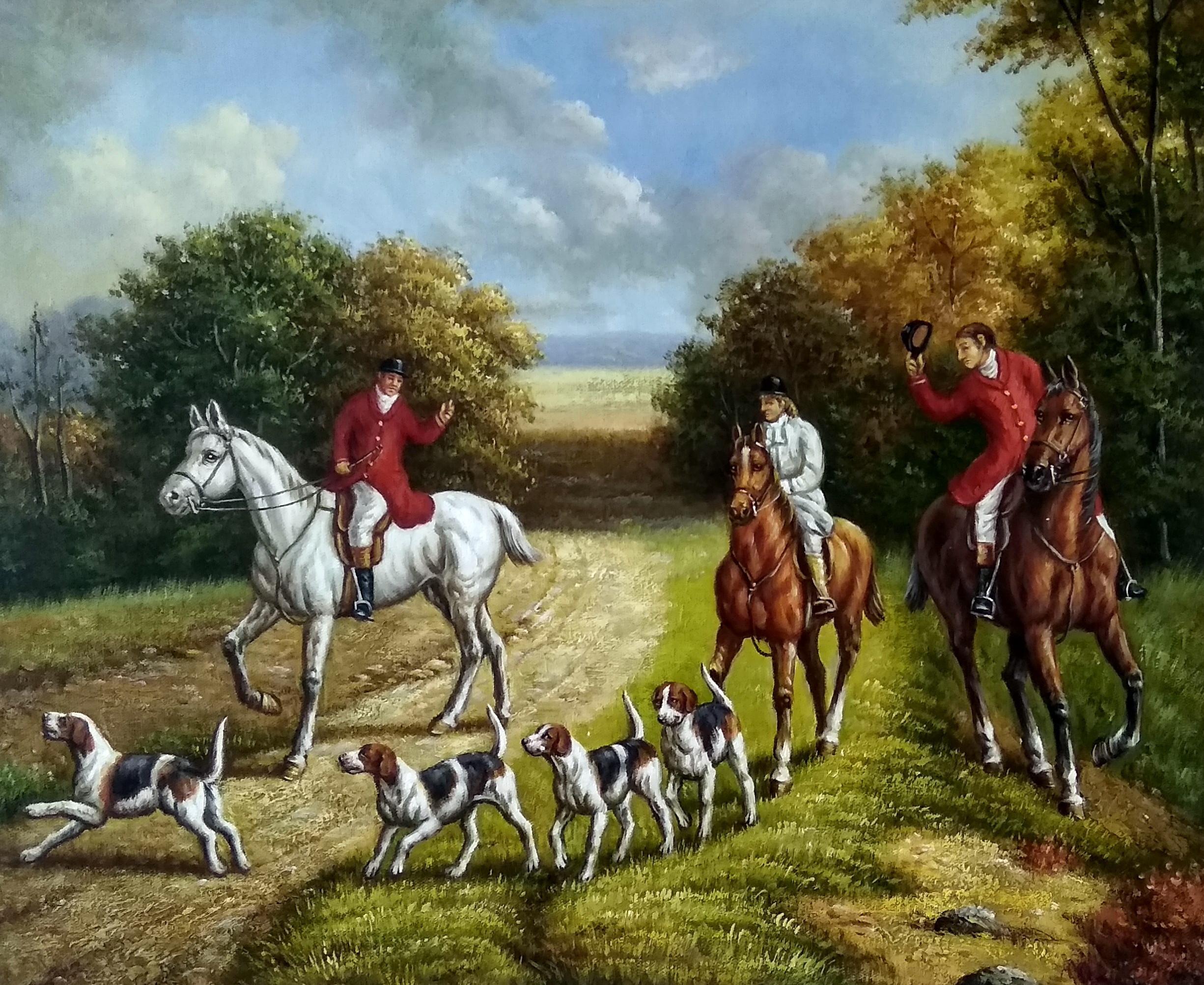«Английская охота» картина 50х60 арт.5р162