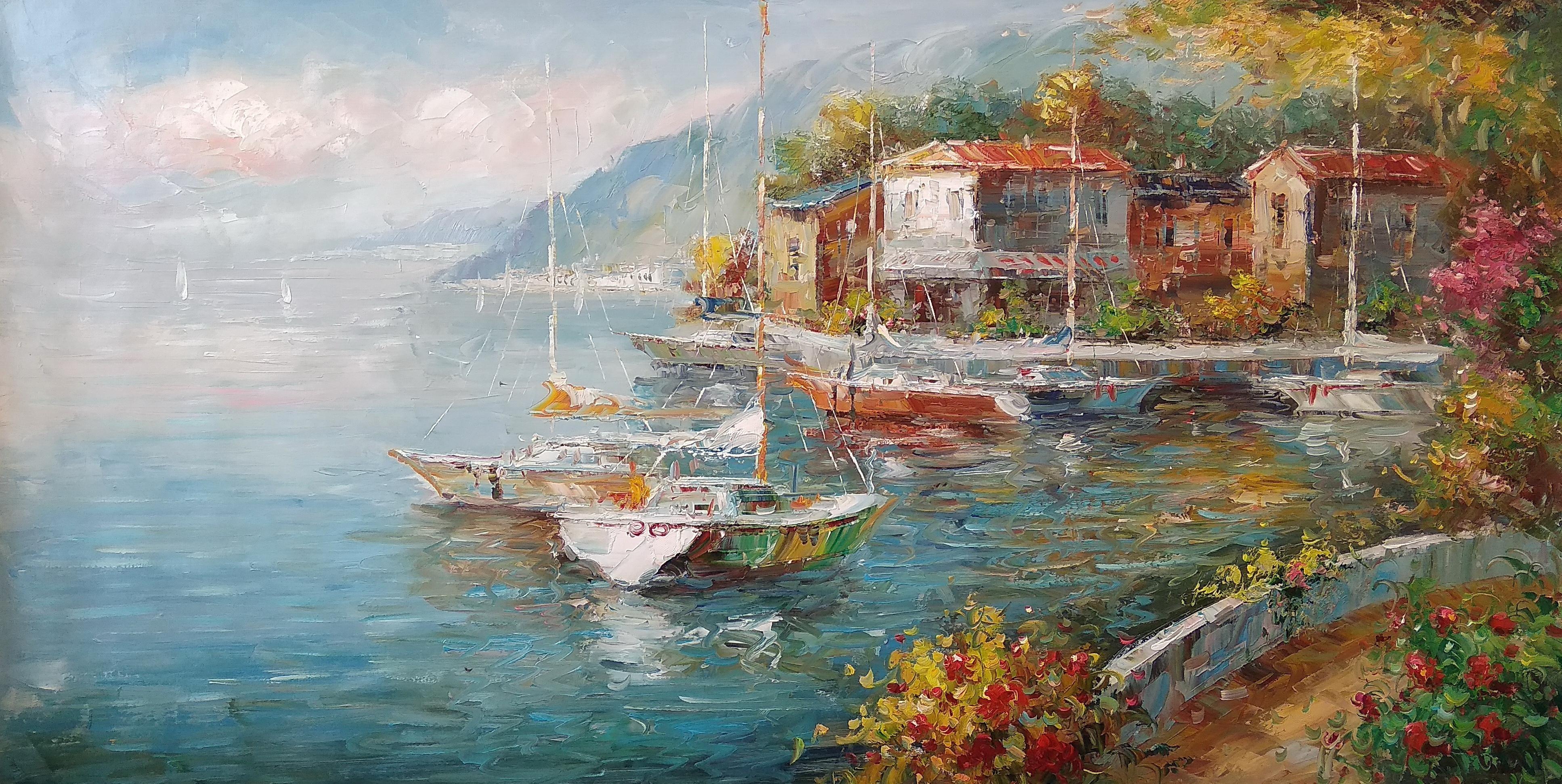 «Южный берег» Картина 60х120 арт. Р006
