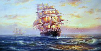 «На всех парусах» Картина 60х120 арт. Б015