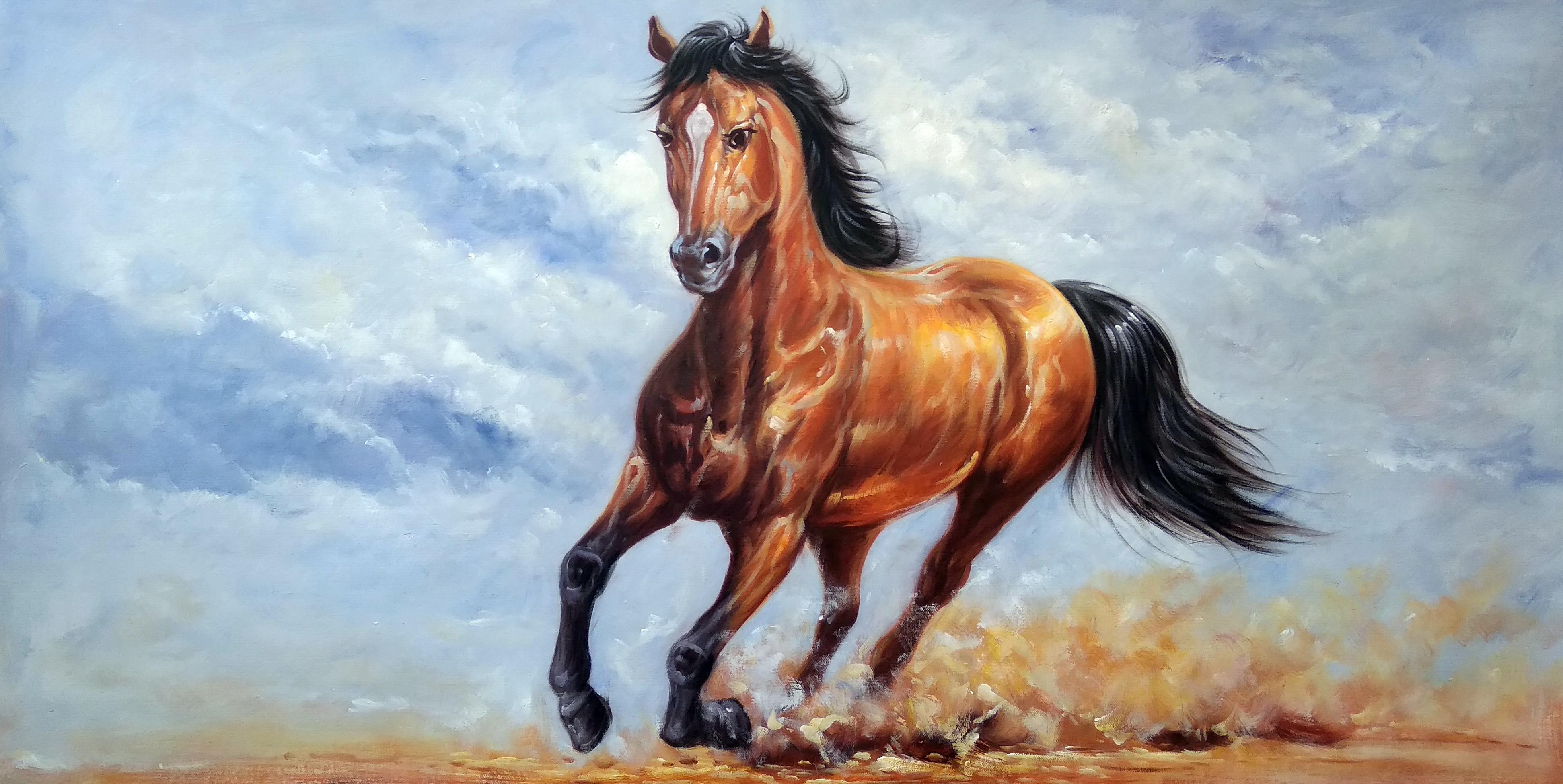 «Арабский скакун» Картина 60х120 арт. Б022