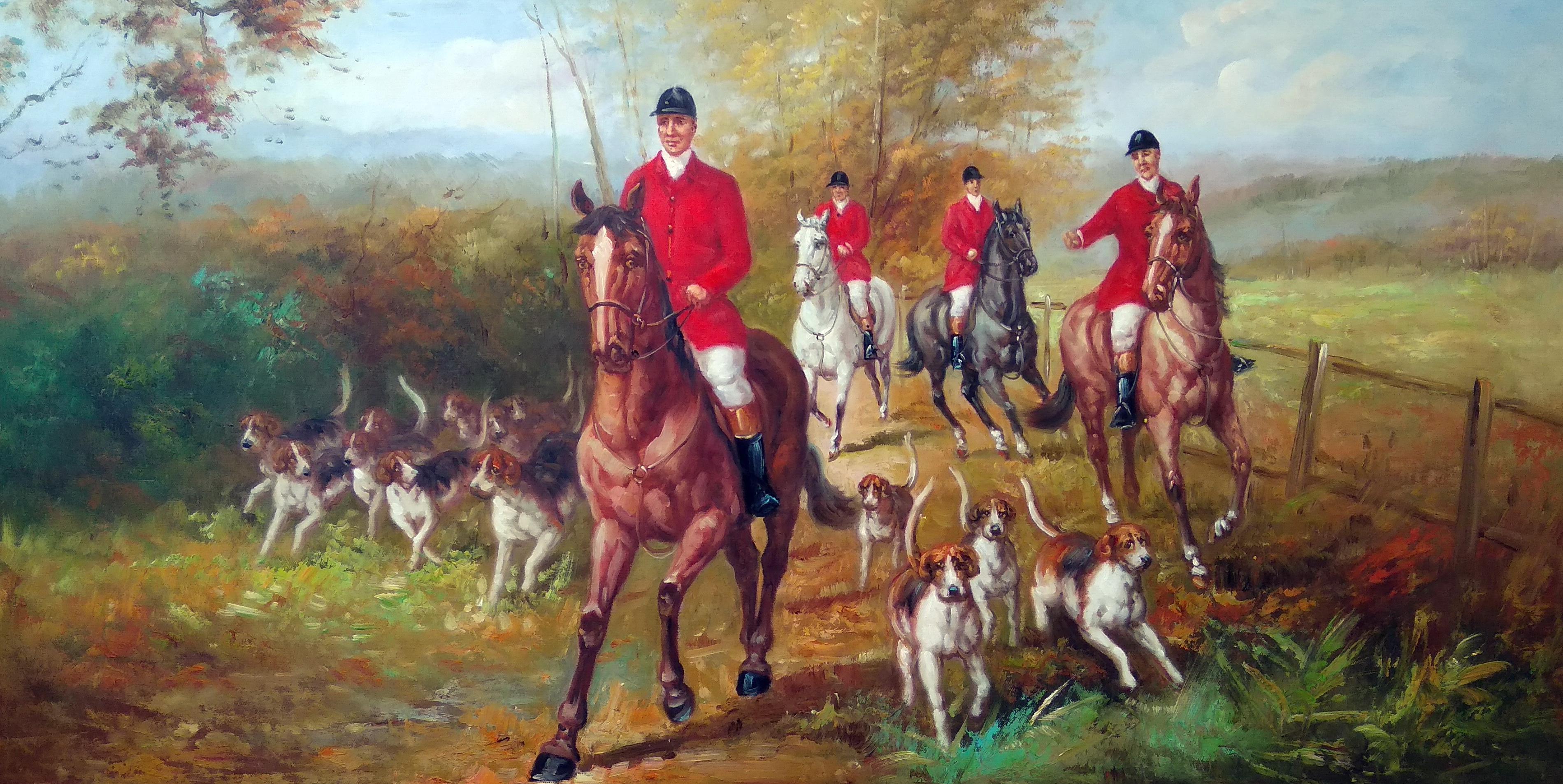 «Английская охота» Картина 60х120 арт. Б023