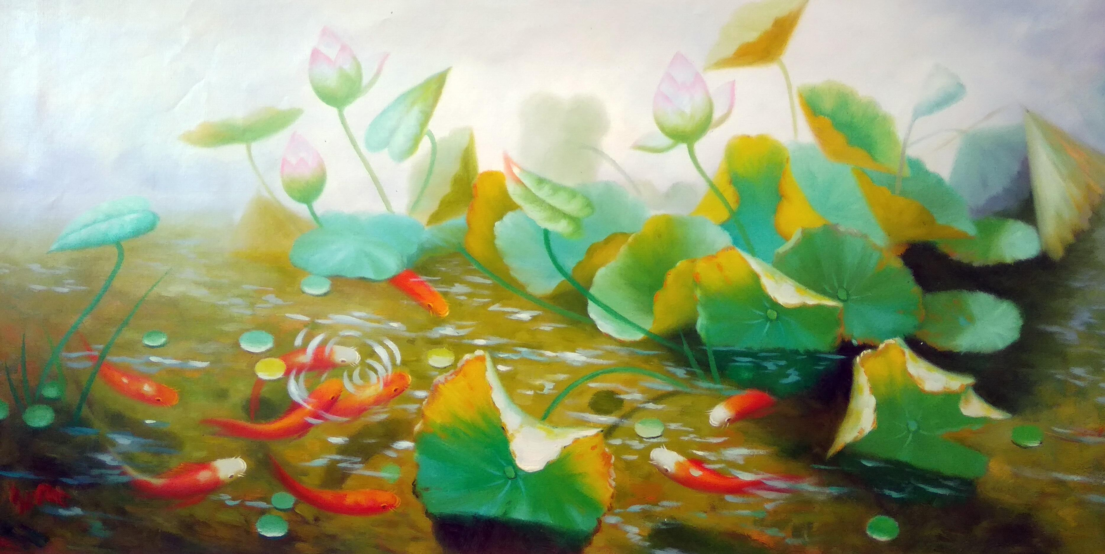 «Рыбки» Картина 60х120 арт. Б025