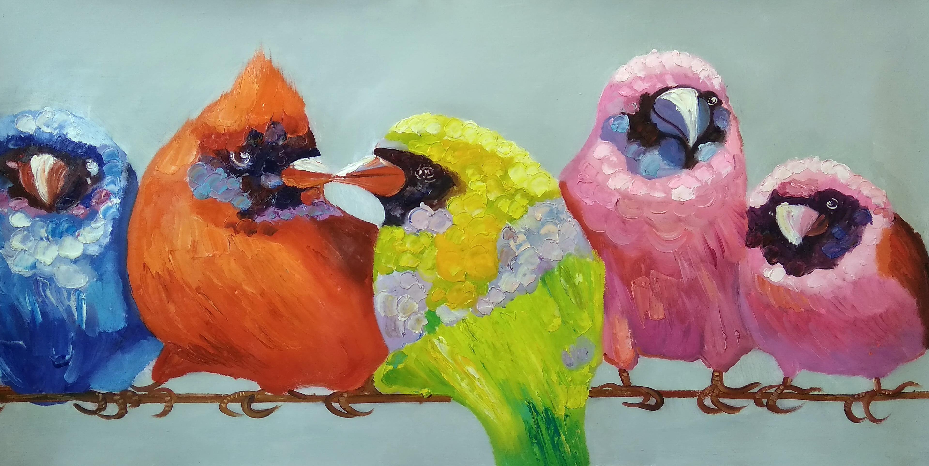 «Веселая семейка» Картина 60х120 арт. Б026