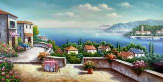 «На побережье» картина 60х120 арт.б034
