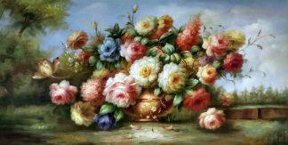 «Пионы» картина 60х120 арт.б035