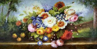 «Букет с ирисом» картина 60х120 арт.б036