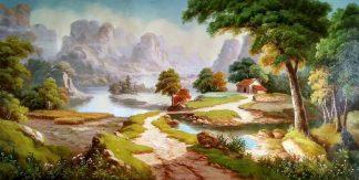 «Солнечная долина» картина 60х120 арт.б040