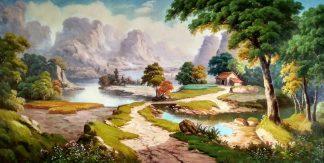 «Солнечная долина» картина 60х120 арт.б041