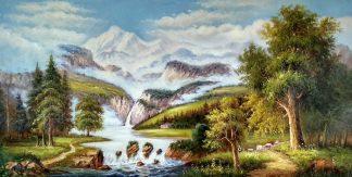 «Пейзаж» картина 60х120 арт.б042