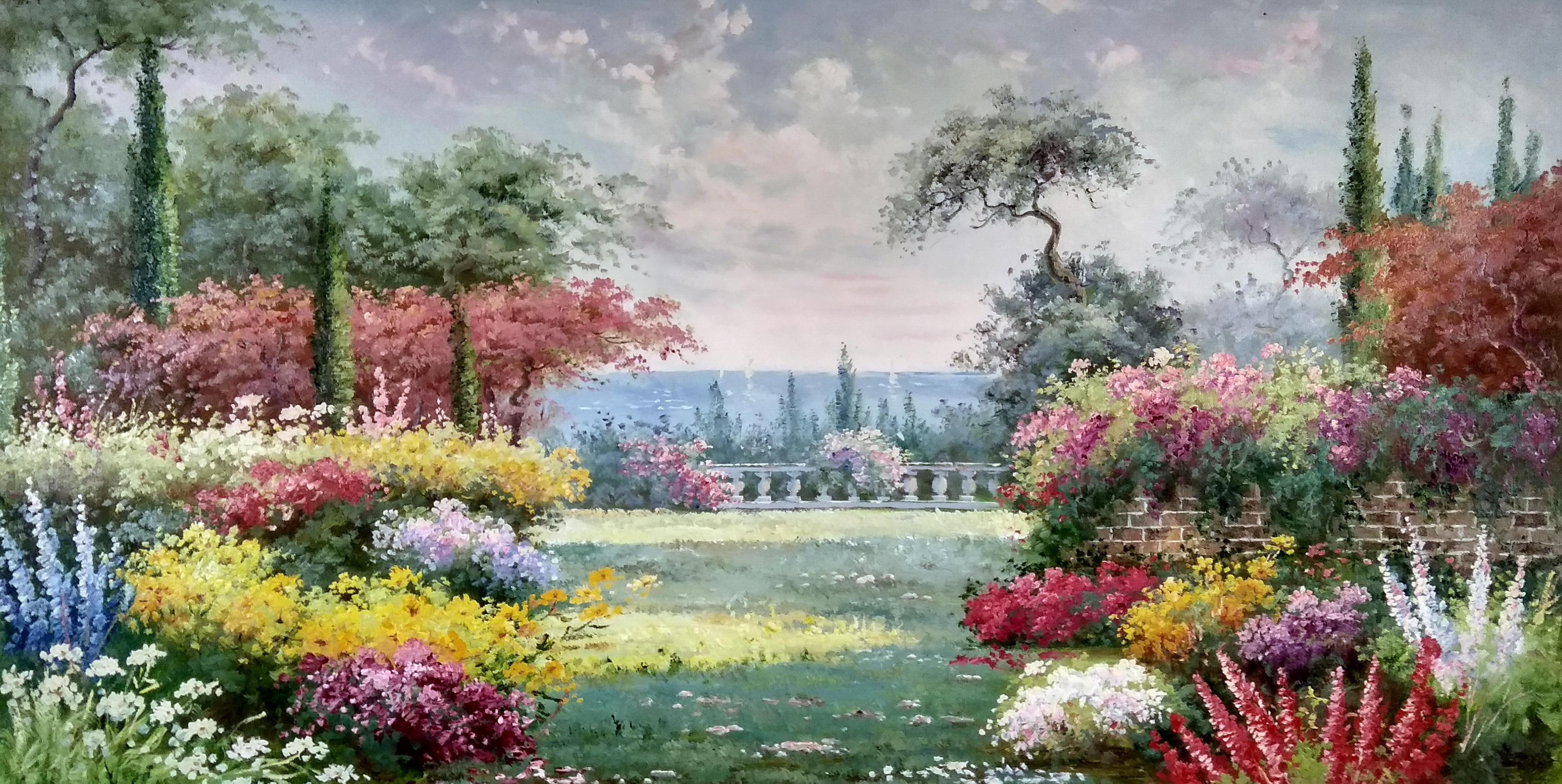 «Палисадник» картина 60х120 арт.б043