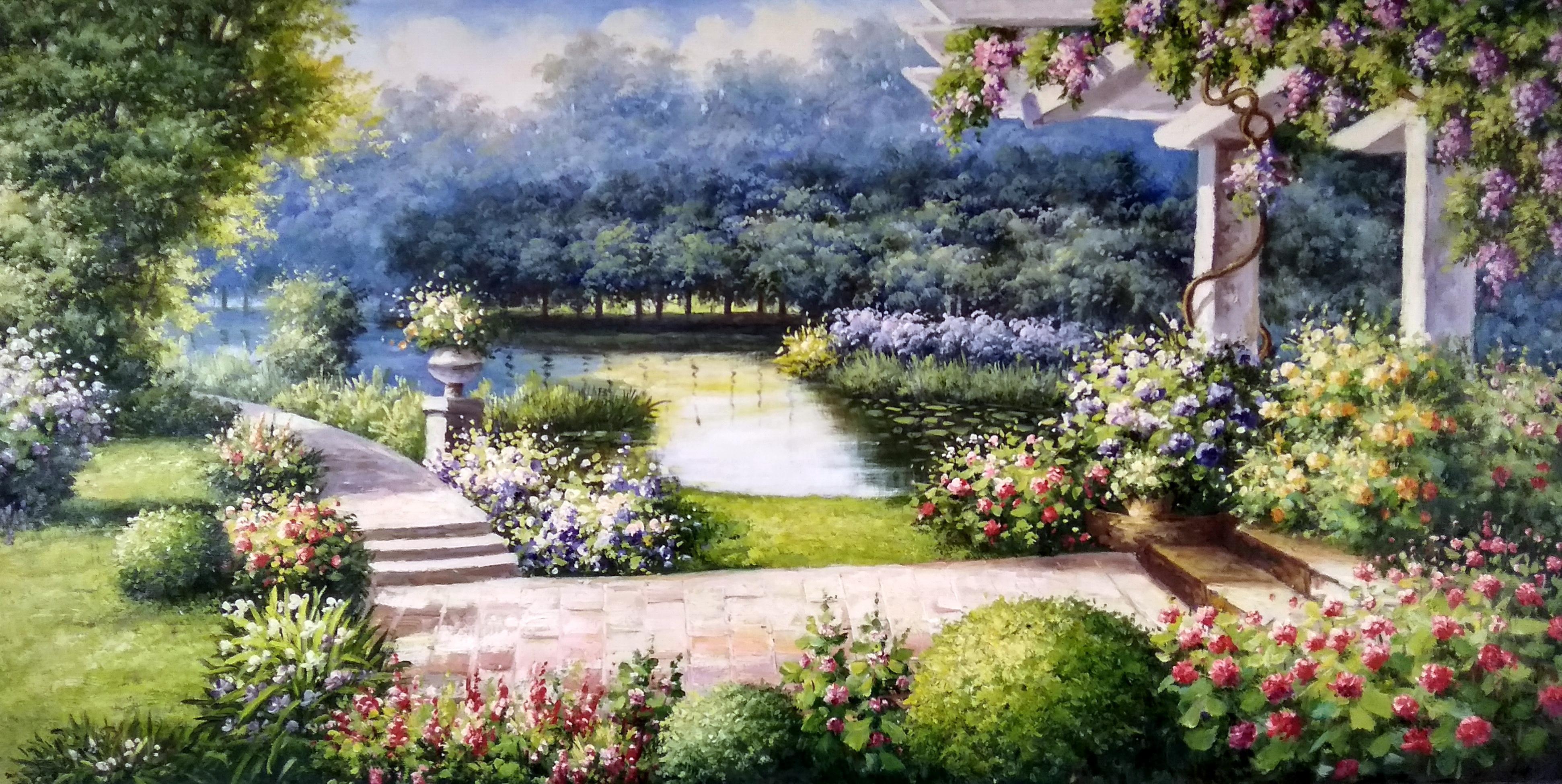 «Сад» картина 60х120 арт.б044