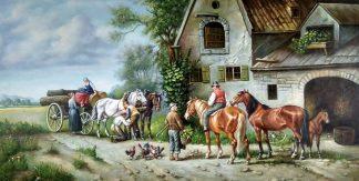 «Сцена из жизни» картина 60х120 арт.б048