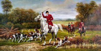 «Английская охота» картина 60х120 арт.б049