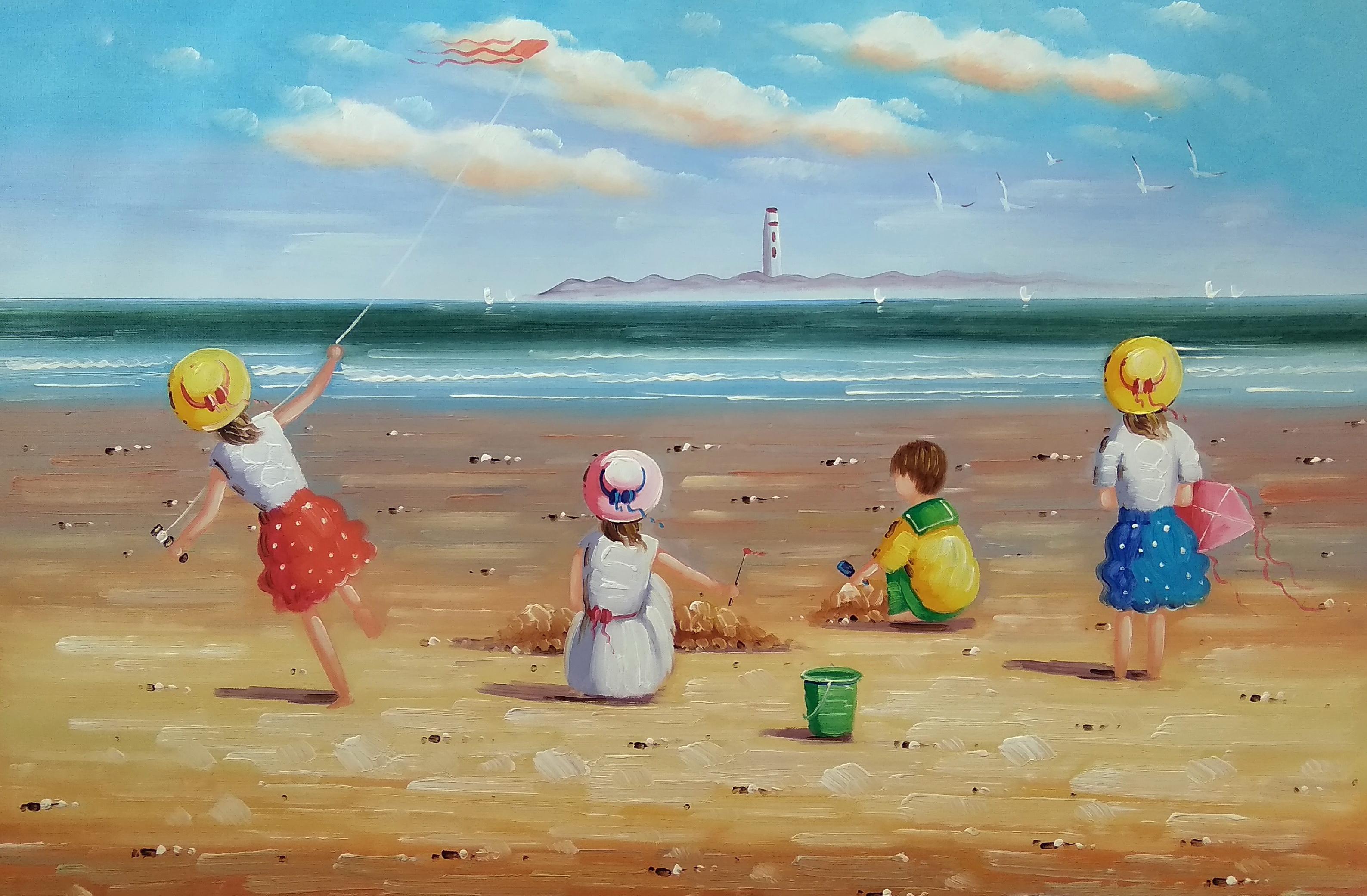 «Дети на море» Картина 60х90 арт. Р001