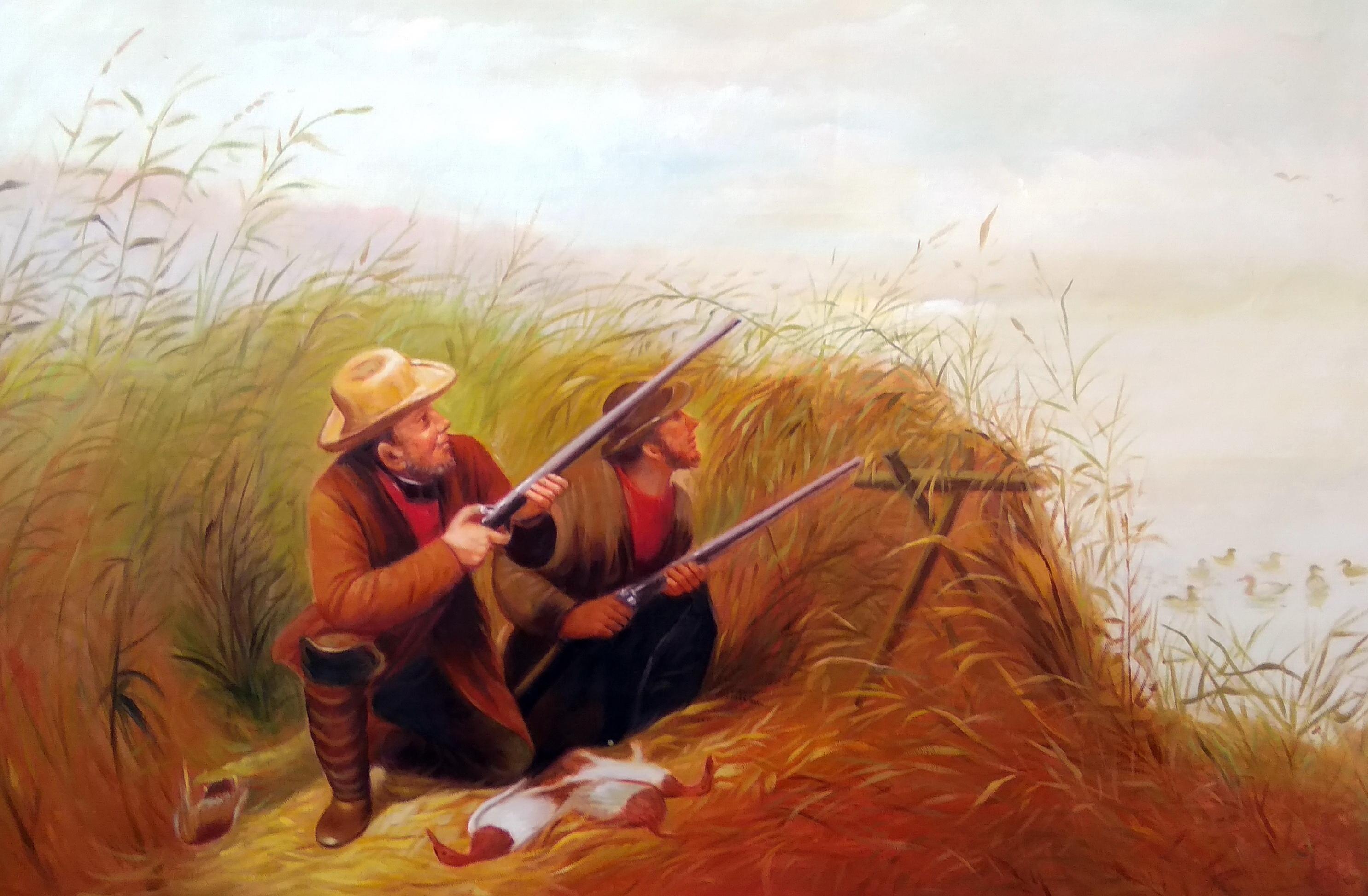 «Охотники» Картина 60х90 арт. 9Р006