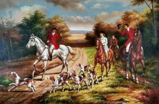 «Английская охота» картина 60х90 арт.9р007