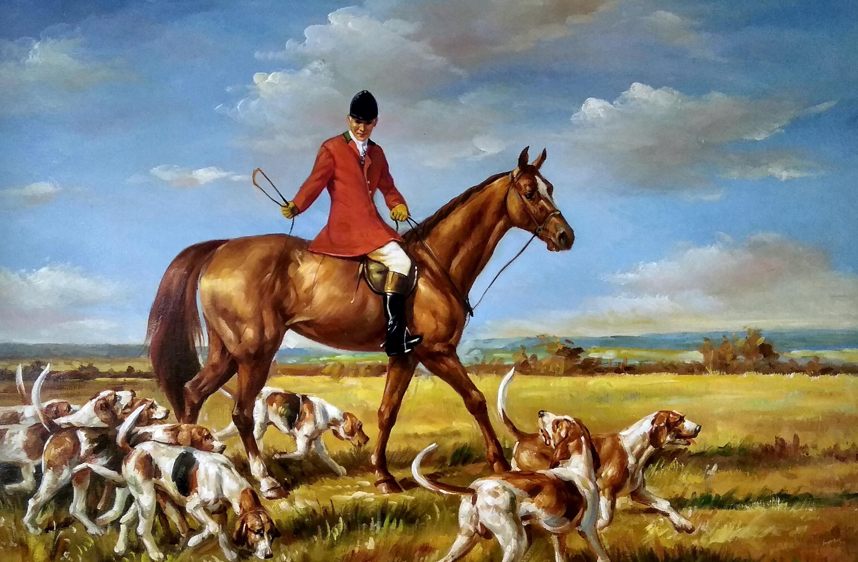 «Английская охота» картина 60х90 арт.9р008