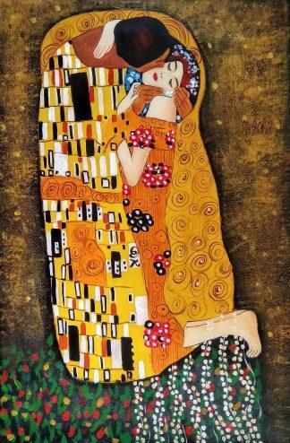 «По мотивам Климта. Поцелуй» картина 60х90 арт.9р010