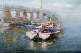 «В гавани» Картина 60х90 арт. С009