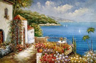 «Балкон с видом на море» картина 60х90 арт.9с014