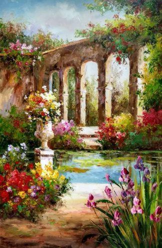 «Акведук в парке» картина 60х90 арт.9с015