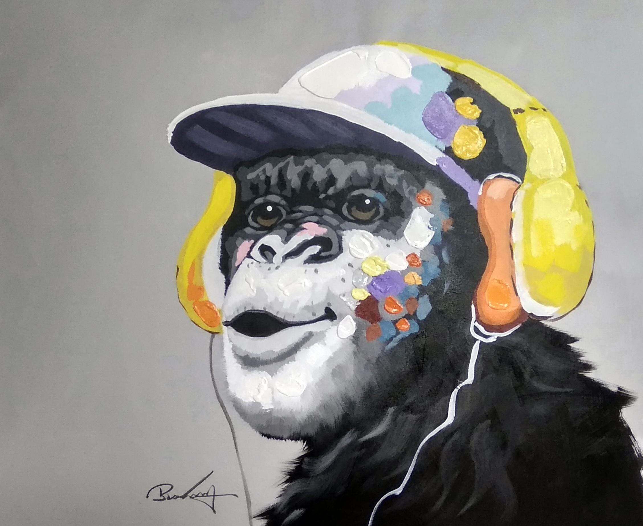 «Шимпанзе» картина 50х60 арт.5а113