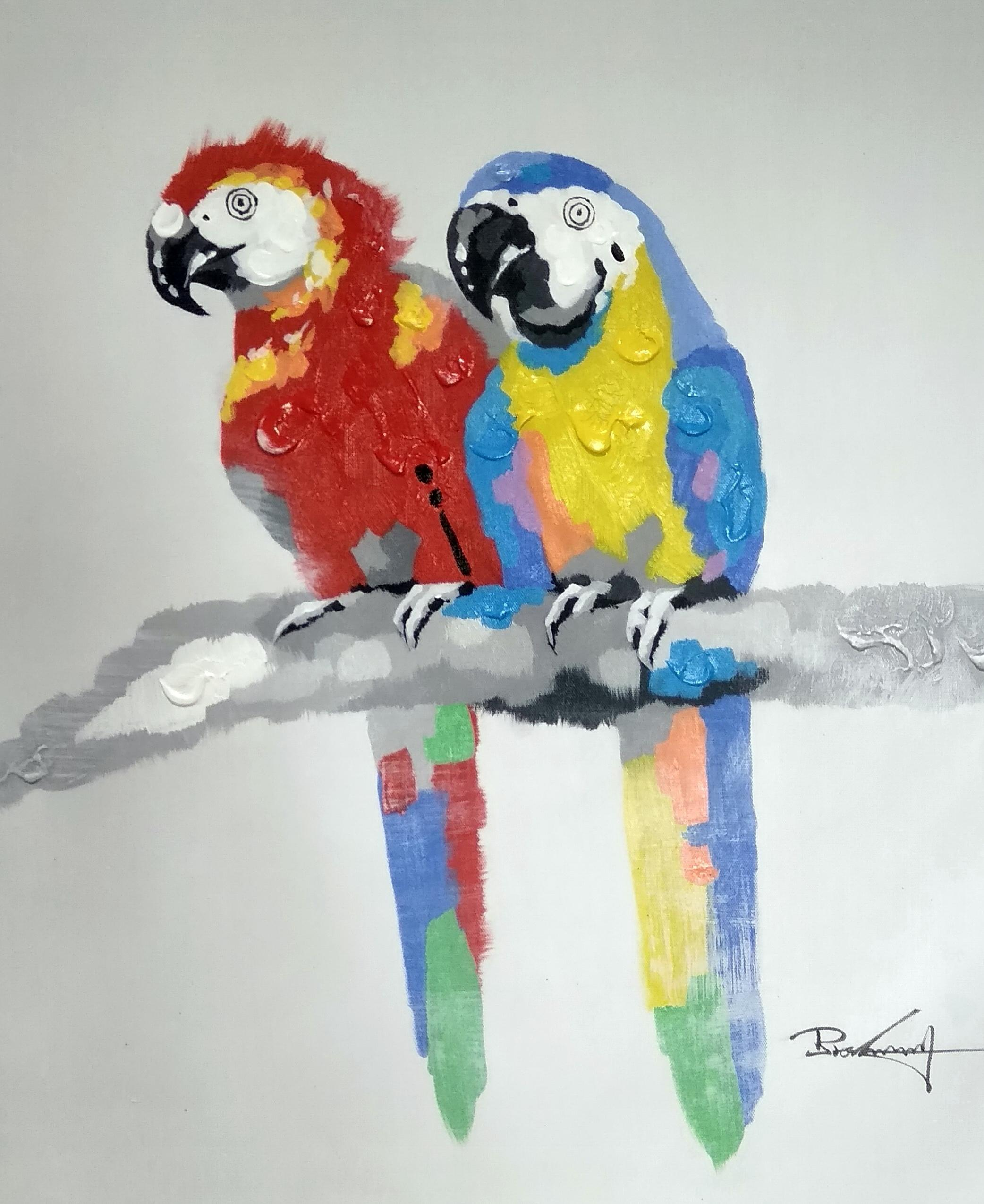 «Попугаи» картина 50х60 арт.5а114