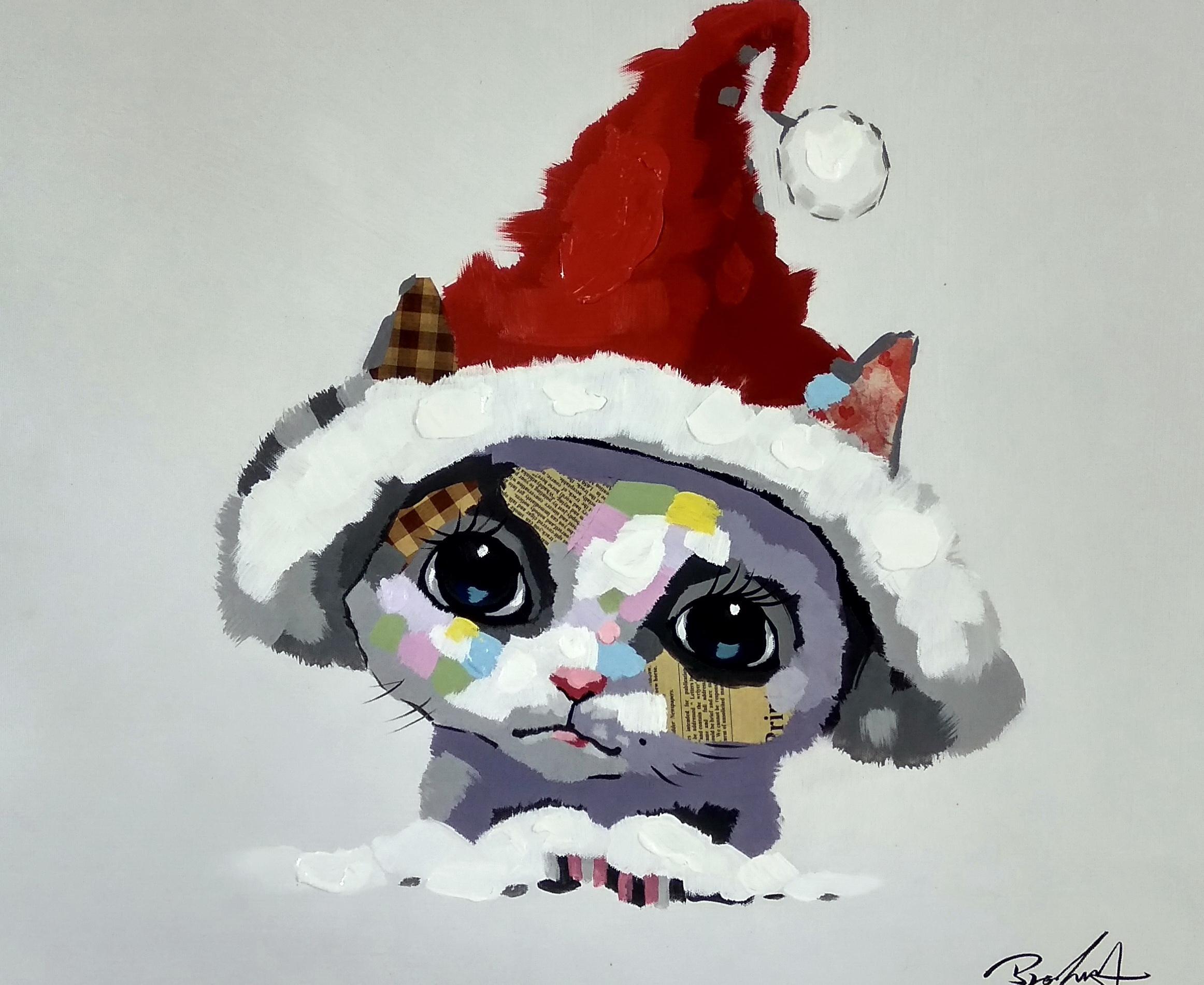 «Котёнок в колпаке» картина 50х60 арт.5а115
