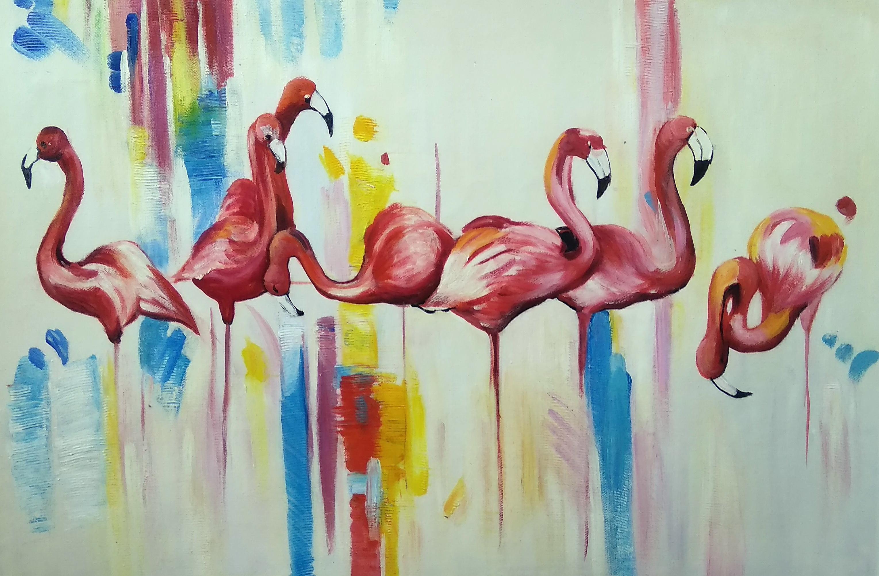 «Фламинго» Картина 60х90 арт. 9А004