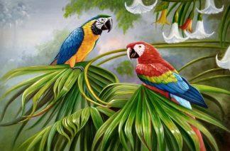 «Попугаи Ара» картина 60х90 арт.9а006