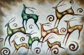 «Стадо оленей» картина 60х90 арт.9а007