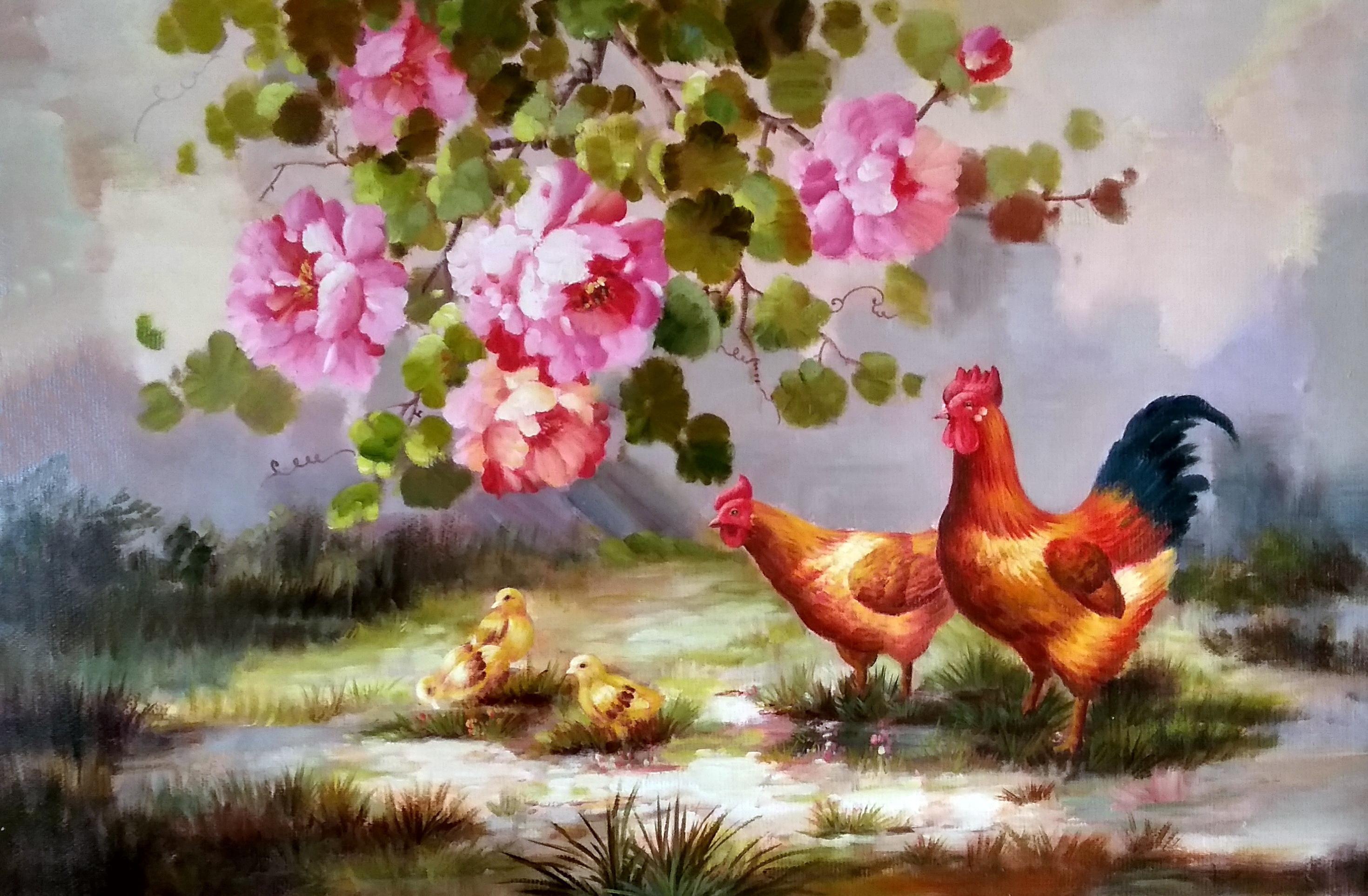 «Птичье семейство» картина 60х90 арт.9а008