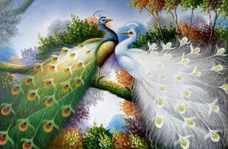 «Павлины» картина 60х90 арт.9а010