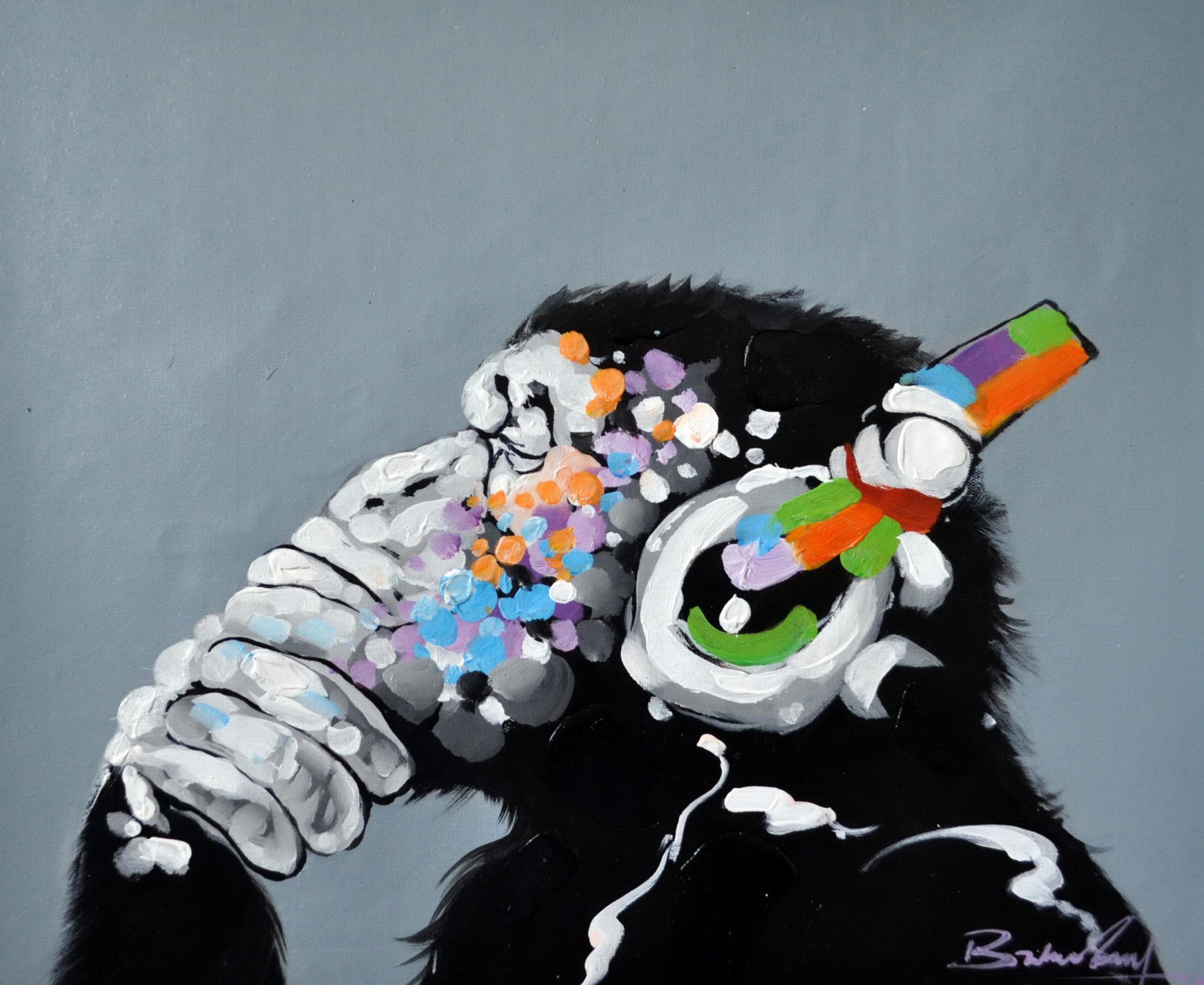 «Шимпанзе» картина 50х60 5а121