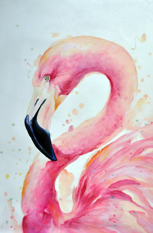 «Фламинго» картина 60х90 9а016
