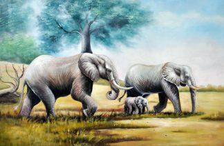 «Слоны» картина 60х90 9а018