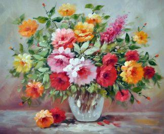 «Цветы в вазе» картина 50х60 5ц313