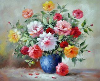 «Цветы в вазе» картина 50х60 5ц318