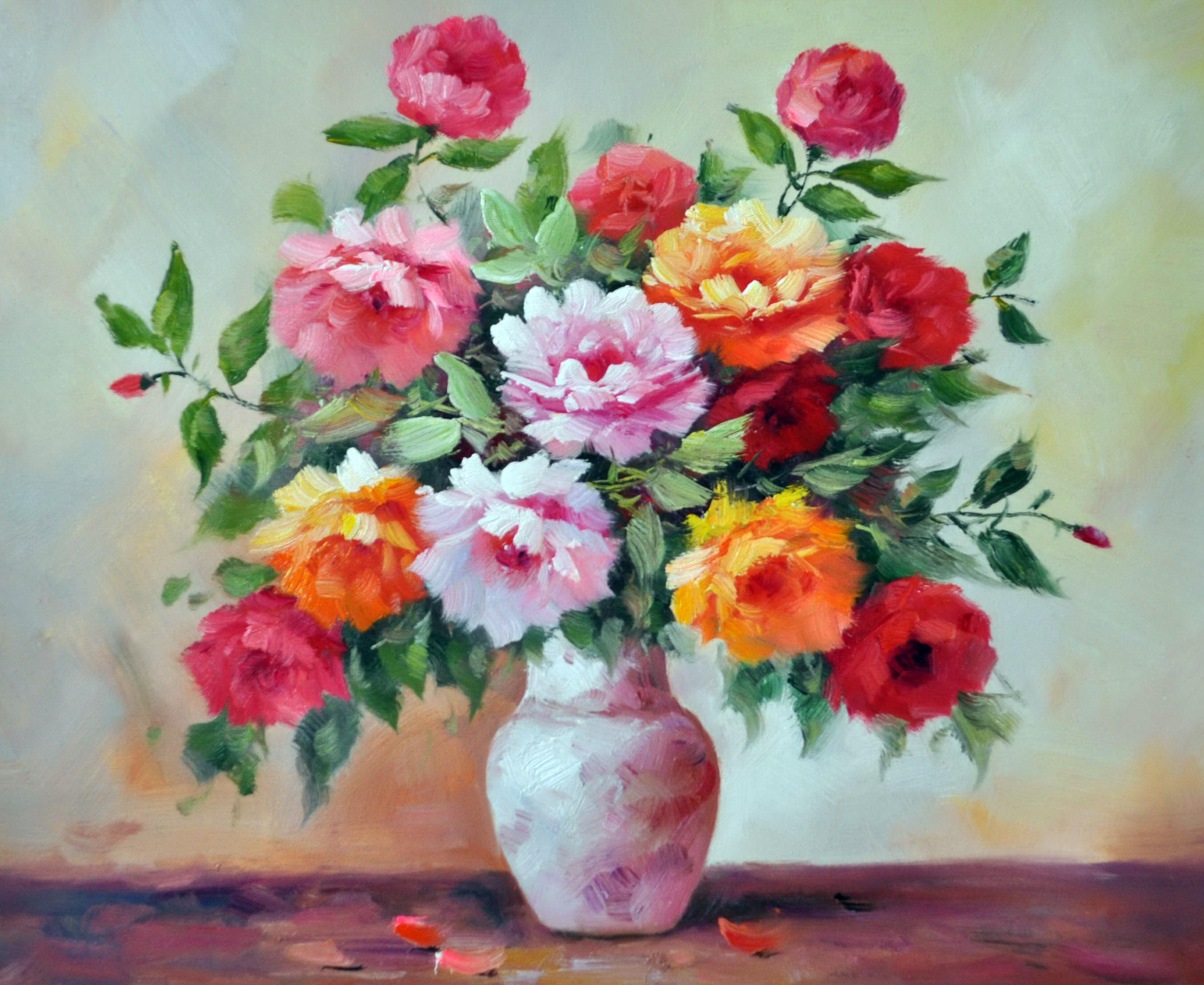 «Цветы в вазе» картина 50х60 5ц319
